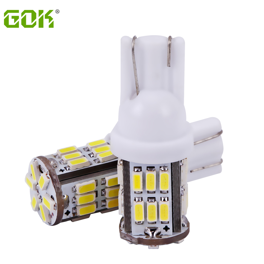 Velkoobchod 50ks / lot T10 led 30smd light 194 168 192 w5w led 3014 smd t10 30led Auto Led Car wedge parking dome light