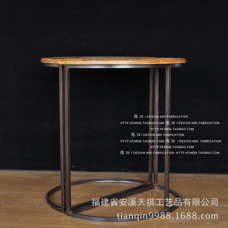 LOFT American Country Hondurensis Wooden Formwork Face Half Round Table Bar  Tables Living Room Coffee Table Special Direct Sales In Coffee Tables From  ...