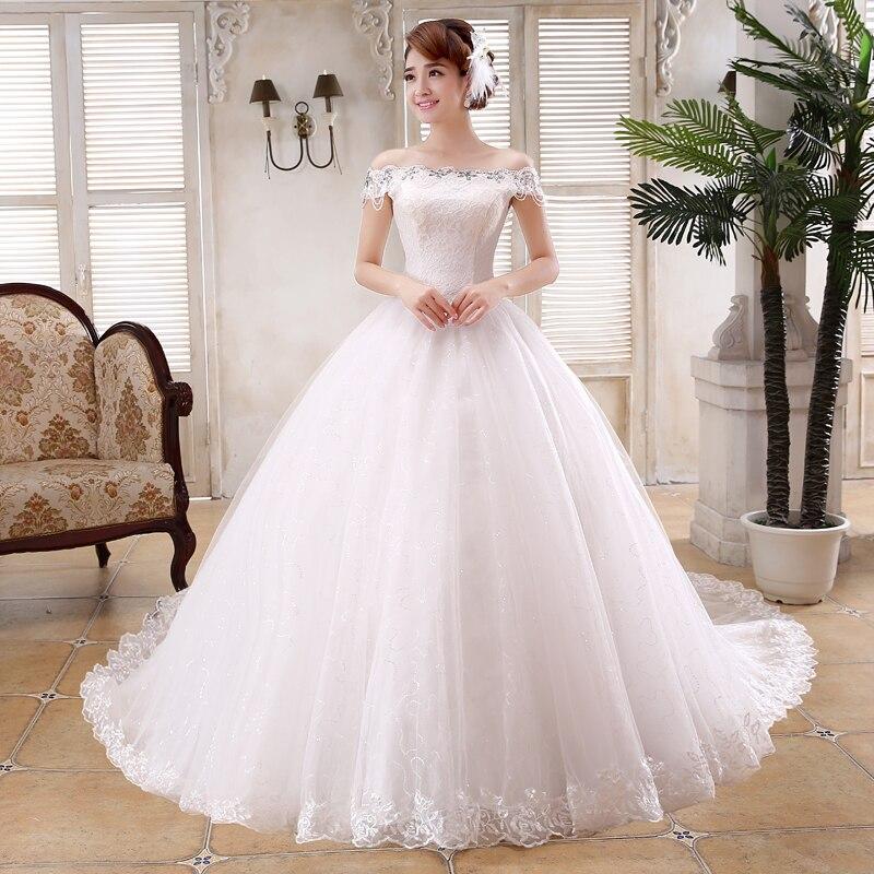 Free Shipping Vestidos De Novia Train Bride Wedding frocks Wedding ...