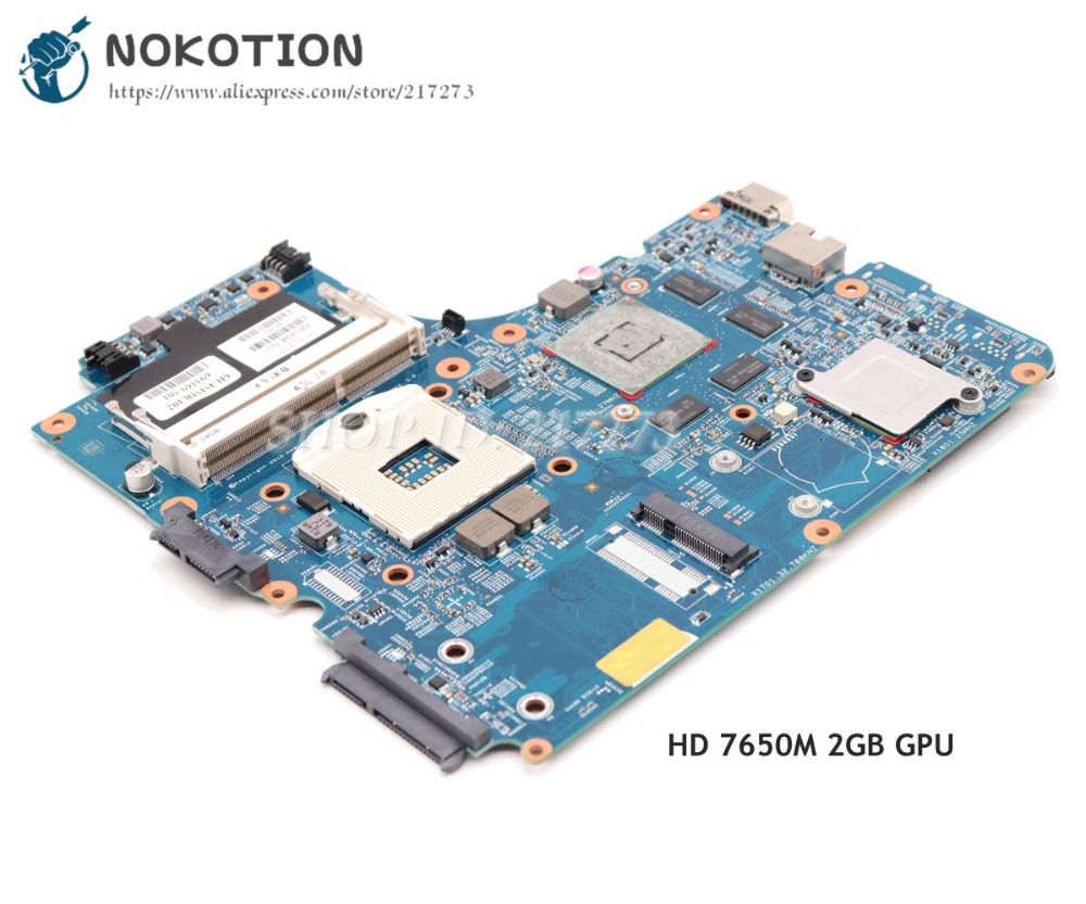 NOKOTION For HP probook 4740s 4540s 4440s 4441s Laptop Motherboard 683494-501 683493-001 683494-001 HM76 HD 7650M 2GB DDR3 683493 001 for hp 4740s 4540s 4441s 4446s 4440s laptop motherboard fully tested working