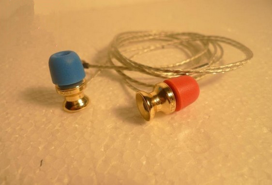 brass gold plated Double magnet earphone HIFI fever Pop Vocal Tri-band equalization