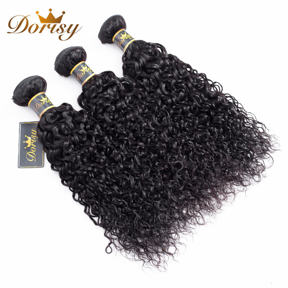 Dorisy Hair Pre-Colored 8-26 Inch Brazilian Kinky Curly 100% Non Remy Hair Weaves 3 Bundles Kinky Curly Human Hair Extension