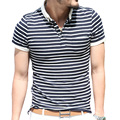 Brand Mens Cotton short Sleeve Polo Shirt Striped Polo Shirt 2016 Spring Top Man Classic Men Casual Tee Male Clothes New Arrival