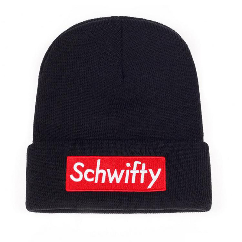 Fashion Schwifty Knitted Hat Male Female Winter Warm   Skullies     Beanie   Wool Cap Unisex Embroidered Letter Knit Hats CP0272
