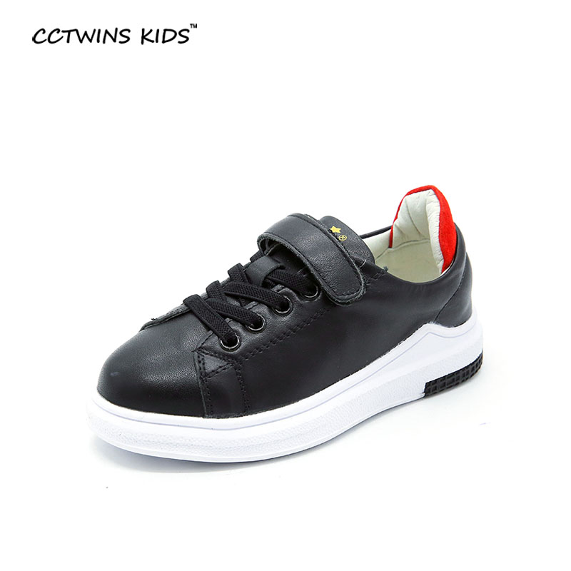 CCTWINS KIDS spring autumn child fashion genuine leather trainer for baby boy brand running shoe girl
