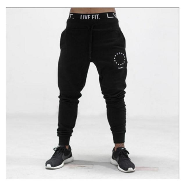 2017 Men GASP&GOLDS Pants Casual Elastic cotton Mens Fitness Workout Pants skinny,Sweatpants Trousers Jogger Pants