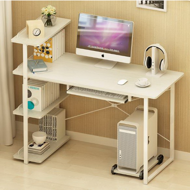 250616/Computer Desk And Desk Style Modern Simple Desk With Bookcase Desk  Simple Table/