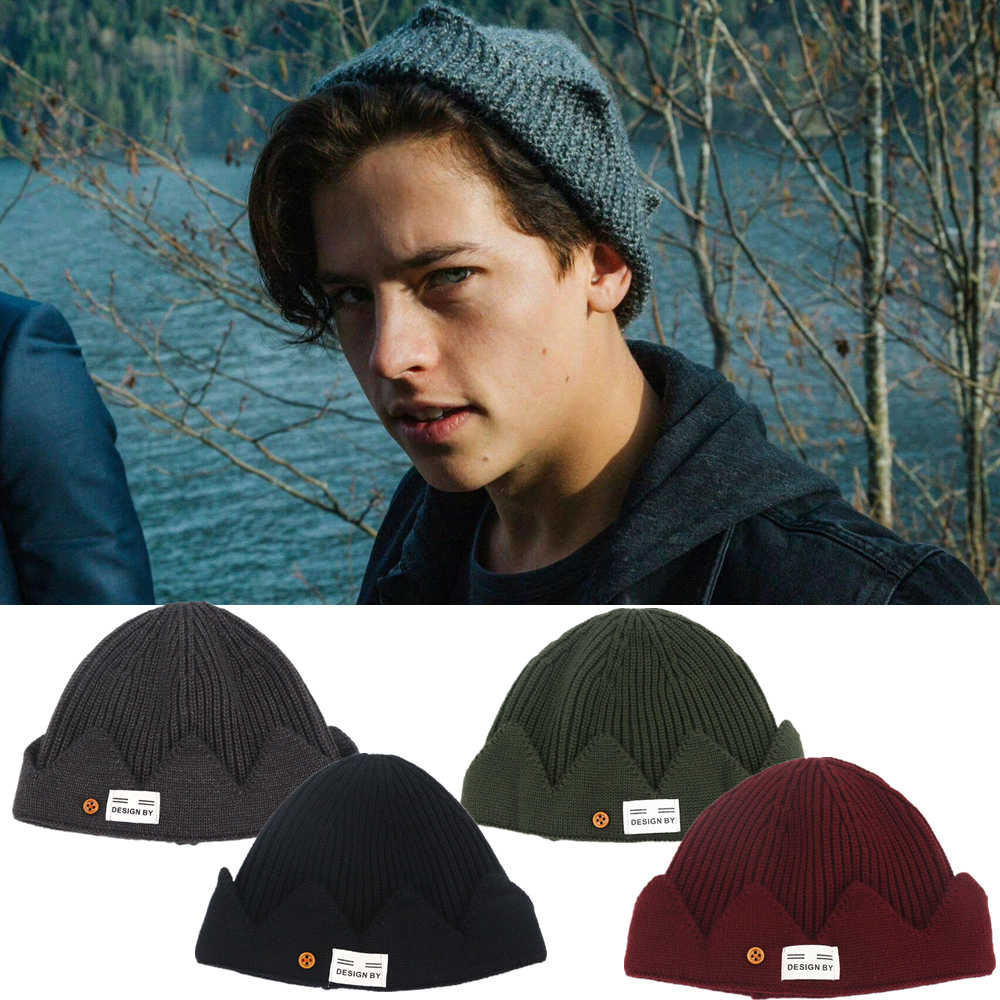 New Jughead Jones Riverdale Cosplay Winter Warm Beanie Hat Topic Exclusive Crown Knitted Cap  hats