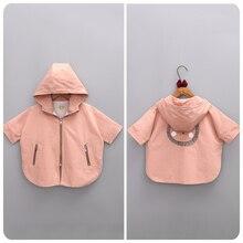 2016 Korean Girl Children's Garment Autumn New Pattern Girl Baby Back Cartoon Printing Loose Coat Jacket Defence Windbreaker