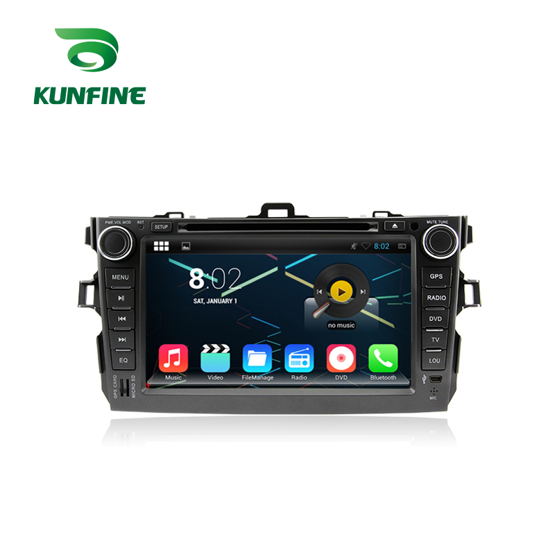 KUNFINE Android 7.1 Quad Core 2GB Car DVD GPS Navigation Player Car Stereo for Toyota Corolla 2006-2011 Radio headunit WIFI