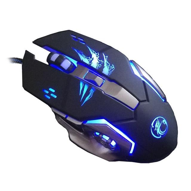 super 6 button 3200 dpi 4 led backlit mechanical gaming mouse mice