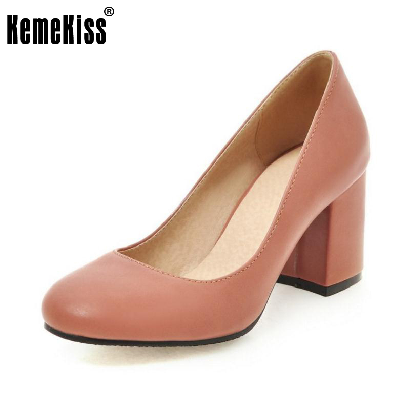 Vintage Spring Women Pumps Slip-on High Heels Shoes Heeled Round Toe Ladies Office Work Shoes Zapatos Mujer Shoes Size 34-43 2017 shoes women med heels tassel slip on women pumps solid round toe high quality loafers preppy style lady casual shoes 17