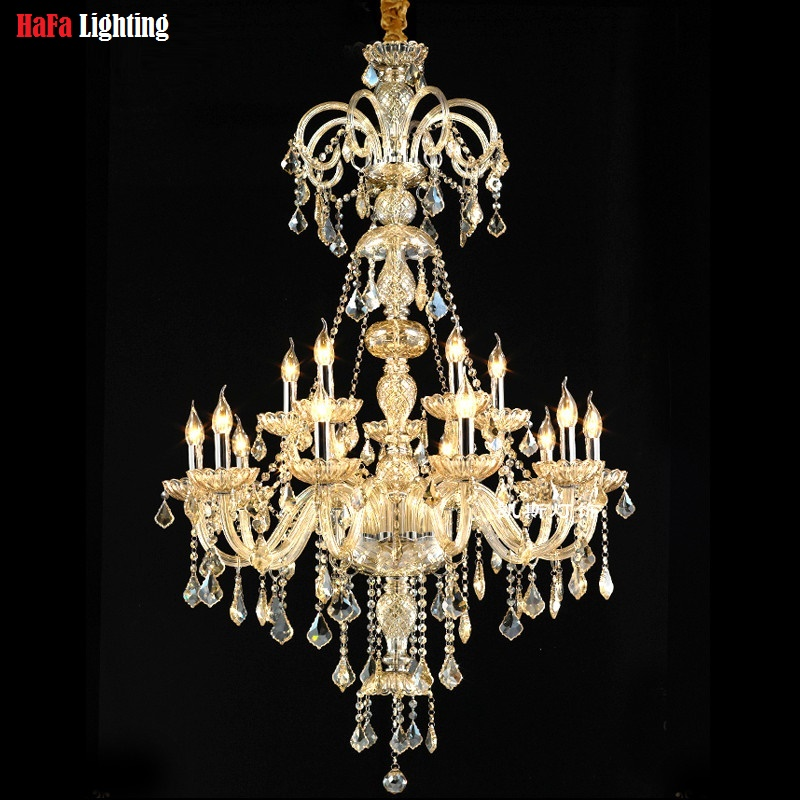 Chandelier Mary theresa crystal chandelier Lights candle chandelier lighting Majestic Crystal Villa And palaces stair light