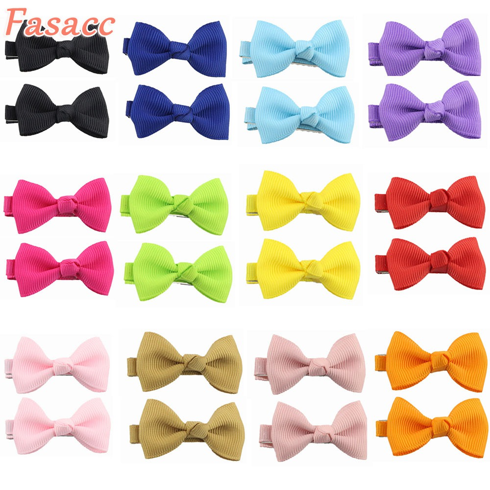 FASACC 2pcs Hair Ribbon Bows Clips For Kids Girl Hairpins Children Barrette Baby Hairclip Girls Cute Hair Ornaments Accessories