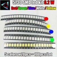 smd 5630 led 100pcs 5630/5730 SMD/SMT Red SMD 5730 LED Surface Mount Red 2.0~2.6V 620-625nm Ultra Birght Led Diode Chip 5730 Red (1)