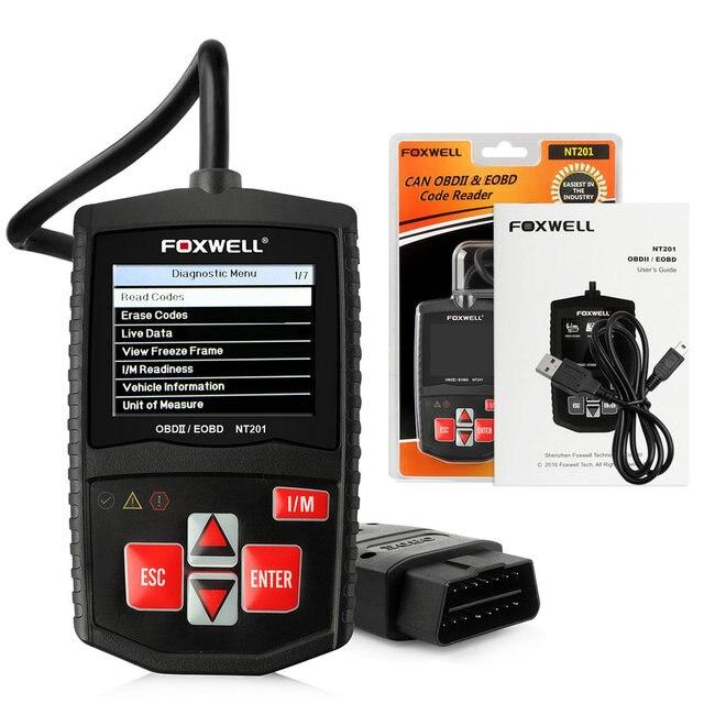 Foxwell NT201 OBD OBD2 Автоматический Сканер Польский Итальянский Испанский Читать Жить PCM Поток Данных Стирания Кодов Неисправностей Автомобиля Детектор Автомобильный Сканер
