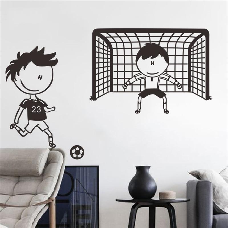 Us 2 11 5 Off Spielen Fussball Fussball Wandaufkleber Fur Kinderzimmer Jungen Schlafzimmer Dekoration Wandkunst Kinder Wandaufkleber Kinderzimmer