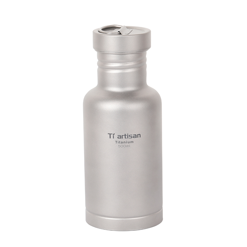 цена на Tiartisan Pure Titanium Sport Bottle Outdoor Camping Cycling Water Bottle with Two lids and Bottle Coat Ta8387