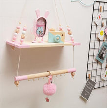 Nordic Children Room Wall Shelves Decorative Wood Wall Clapboard With Beads INS Kids Decoration Party Decor Gifts(China)