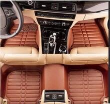 Personalizar tapetes de coche universal pie estera alfombra alfombras de cuero set de cuatro colores antideslizante impermeable a prueba de fuego accesorios de automóviles
