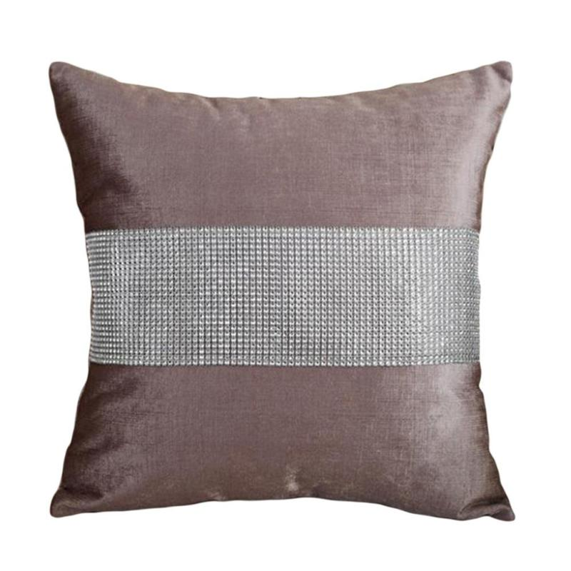 40PC Solid Color Rhinestone Pillow Cover Cushion Cover Decorative Extraordinary Rhinestone Decorative Pillows