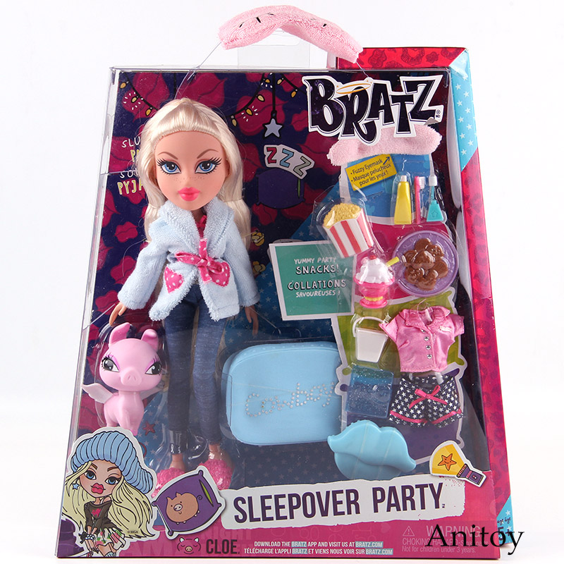 Bratz Study Abroad Raya to Mexico Sleepover Party Cloe Movable Action Figures Fashion Play House Dolls Toy for Girls