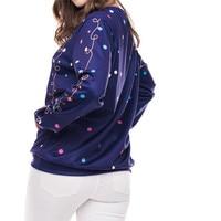 Printing Hoodies Christmas Hoodie O Neck Hoody Ladies Long Sleeve Sweatshirt Casual Pullover Moletom Wholesales #F#40SR11 2