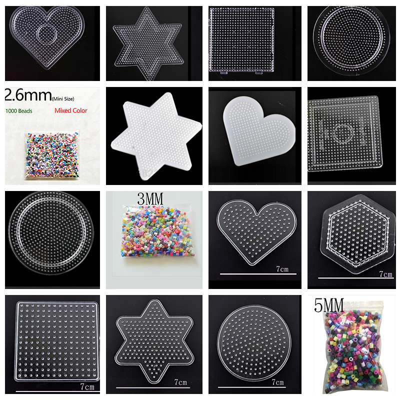 1000 Mixed Color 2.6mm/3mm/5mm Mini Hama Beads EVA Handmade Cartoons Material DIY Lover Fuse/Hama/Perler Beads Opp Bag
