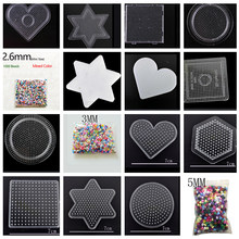 1000 Mixed Color 2.6mm/3mm/5mm Mini Hama Beads EVA Handmade Cartoons Material DIY Lover Fuse/Hama/Perler Beads Opp Bag(China)