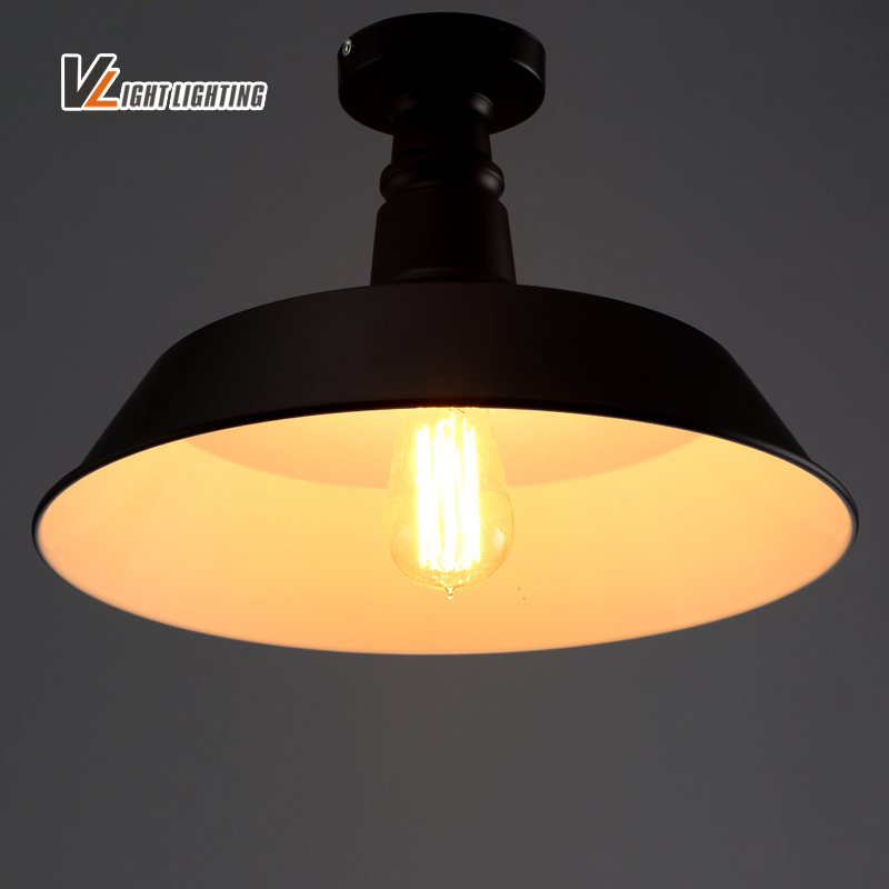 free shipping vintage metal edison ceiling lights retro lustre shade ceiling lampe fixture. Black Bedroom Furniture Sets. Home Design Ideas