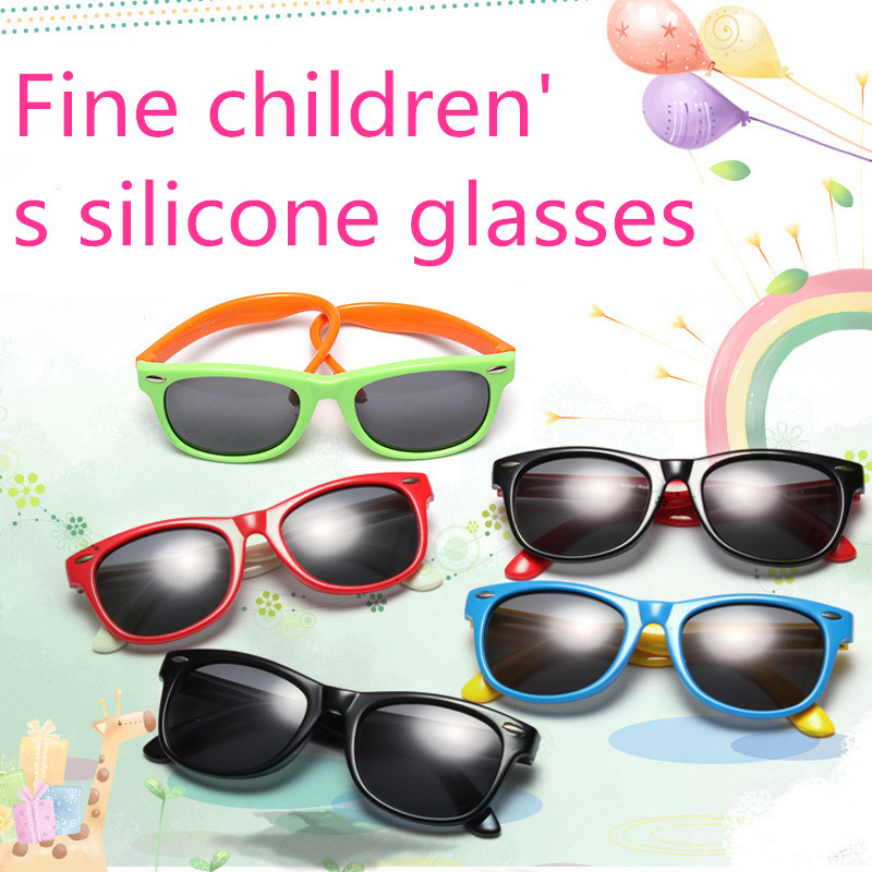 ASUOP 2019 Baru Anak-anak Silika Kacamata Lembut Polarisasi Persegi - Aksesori pakaian - Foto 2