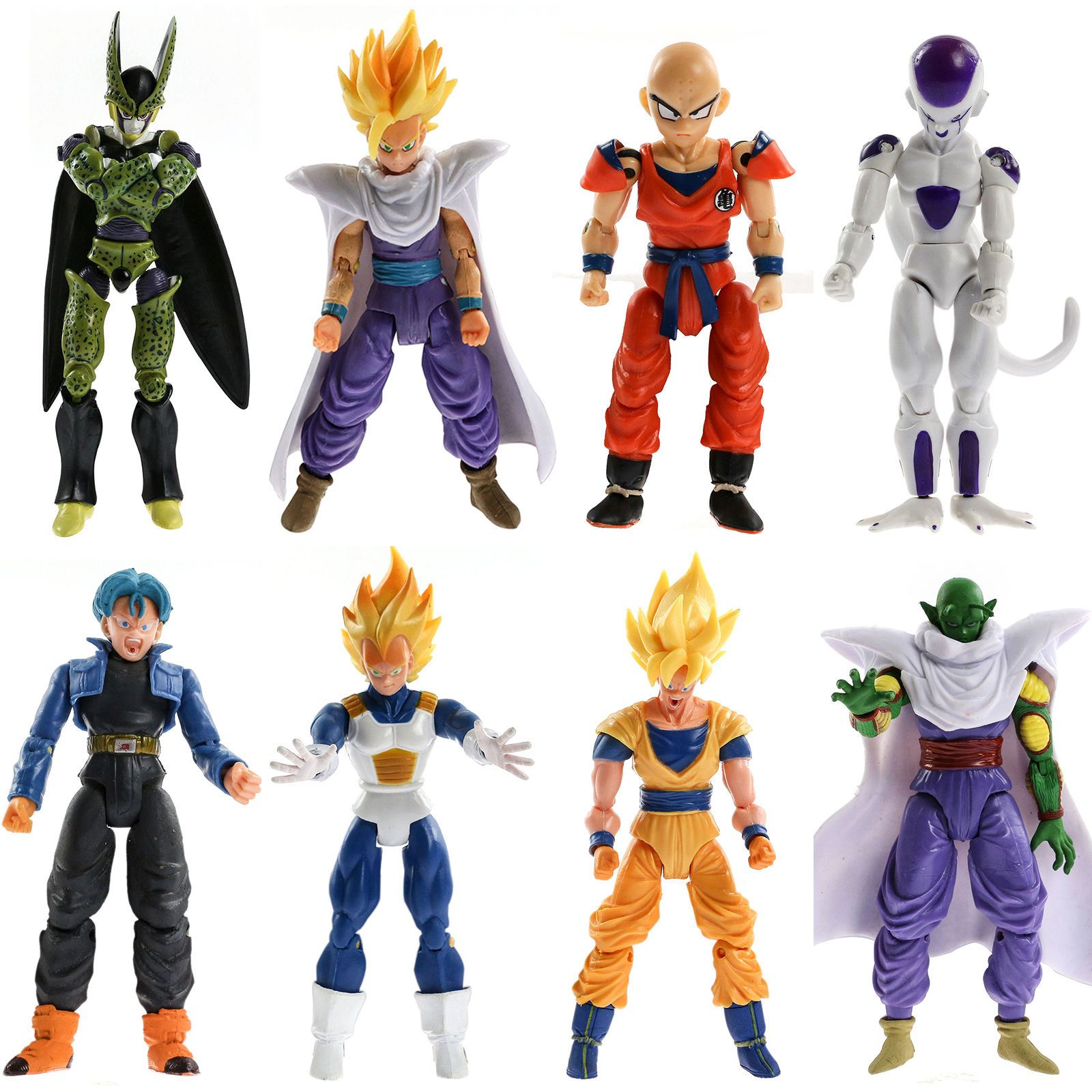 8Pcs Action Figures Toys Kids Gifts Toy Pvc Collections Christmas Model For Dragonball Z Dragon Ball DBZ Joint Movable 8pcs set the octonauts cartoon action figures kids toys captain barnacles medic peso model children birthday gifts with box