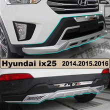 Bumper Protector Guard Plate For Hyundai ix25 2014.2015.2016.Upgrade Style Brand New ABS Front+Rear Bumpers Car Accessories
