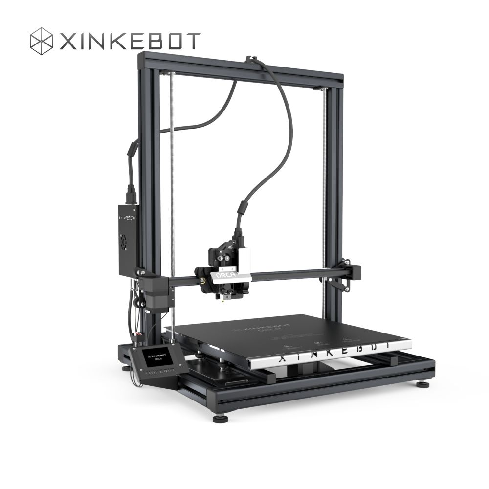 Sliver Metal Frame Desktop 3D Printers China Xinkebot ORCA2 Cygnus 3D printer Large Build Size 400x400x480mm