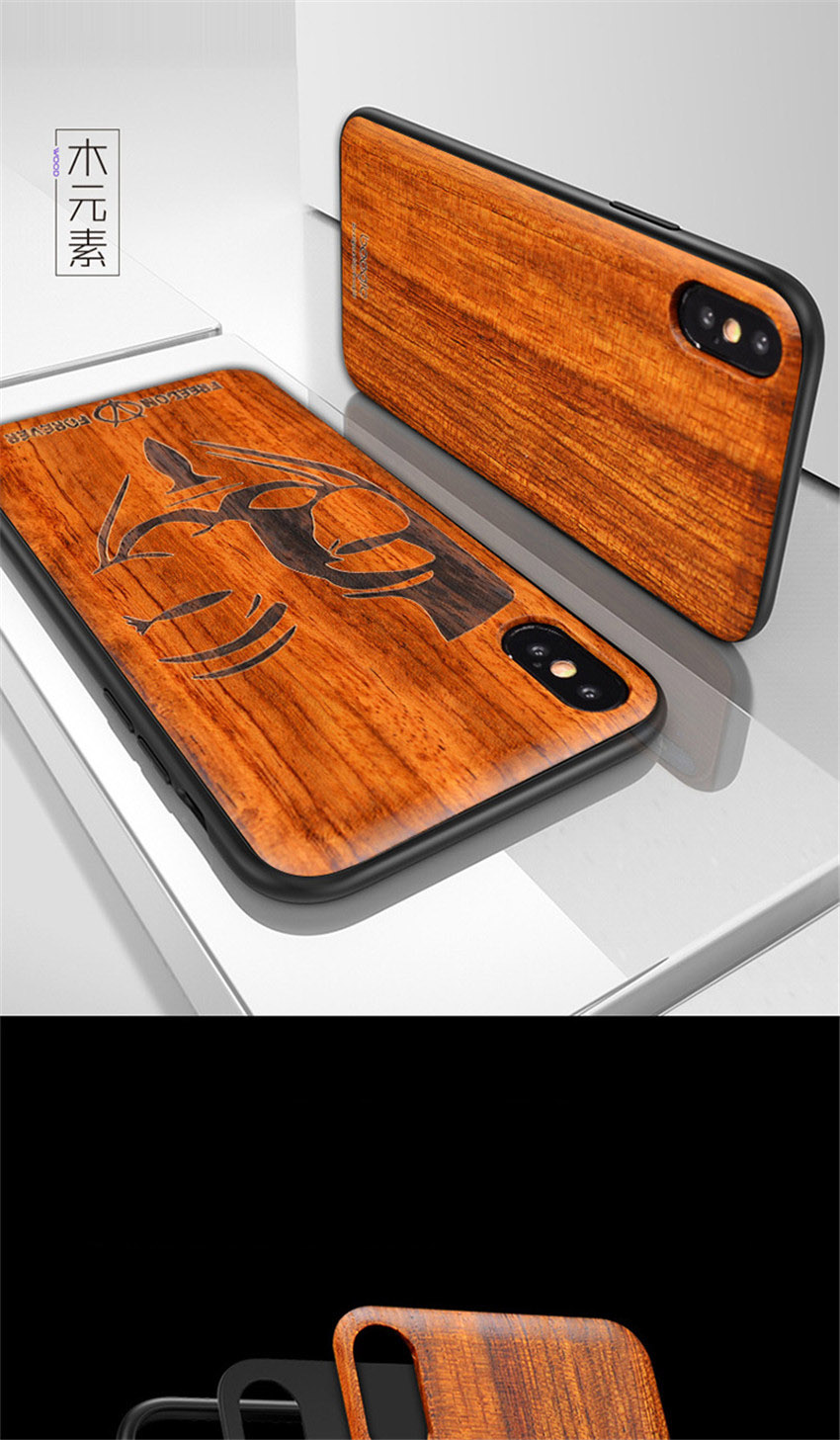 2018 New For iPhone XS Max Case Slim Wood Back Cover TPU Bumper Case For iPhone X iPhone XS Phone Cases (3)