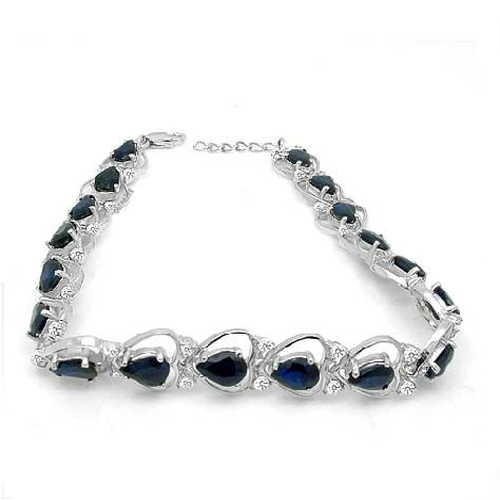 2017, распродажа QI xuan_free почта темно синий каменный цветок Bracelets_S925 чистого серебра Bracelets_Manufacturer непосредственно продаж