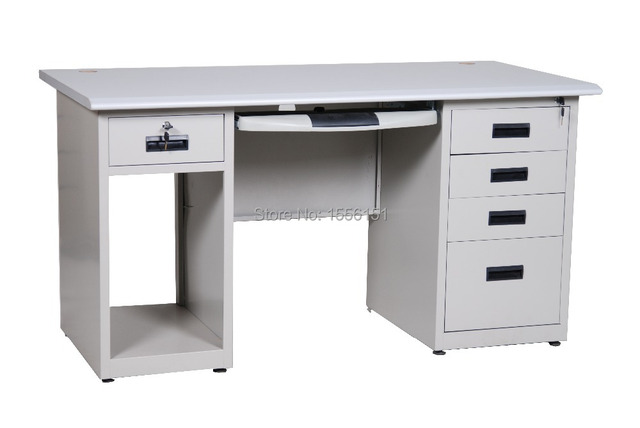 Office desk with drawers Industrial Style Steel Office Desk With Drawers And Computer Cabinet Aliexpresscom Steel Office Desk With Drawers And Computer Cabinet On Aliexpress