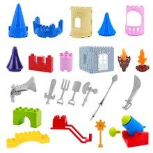 Prince Castle Cannon Arms Big Building Blocks Model Architecture Compatible Duplos Assembled Components Bricks Toys For Children цена