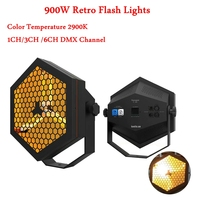 Professional For Disco DJ Stage Lighting Equipment 900W Retro Flash Light DMX512 Perfect Square Retro Star Stage Lighting