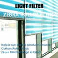 Window Zebra Roller Blinds curtain(CUSTOMIZED) manual or motorized  (Z1)