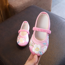 New Arrival Girls Embroidery Casual Shoes Kids Chinese Classic Style Floral Flat  Shoes Children Fashion Sneakers 1f64f5548bba
