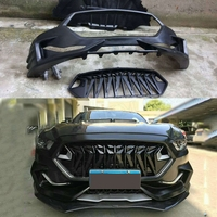 Carbon fiber & FRP Front Bumper Lip Spoiler Grills Rear Diffuser Car Accessories for Ford Mustang Coupe 2015 2017 Body Kits