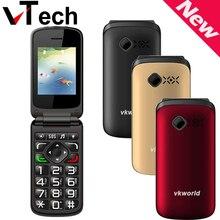 Оригинал VKworld Z2 2.4 дюймов TFT ЦВЕТНОЙ Дисплей Старейшин Мобильного Телефона Поддержка Dual Sim-карты 0,3-МП Камера FM Bluetooth
