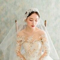 2019 New Vintage Juliet Bridal Wedding Veils Short Tulle Appliques Luxury Veil for brides voiles de Mariage Noir velo de novia