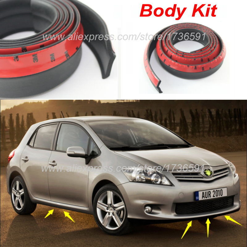 Car Bumper Lip For TOYOTA Auris Corolla Hatchback For Scion IM / Body Kit / Front / Rear Skirt Spoiler / Deflector Rubber Strip