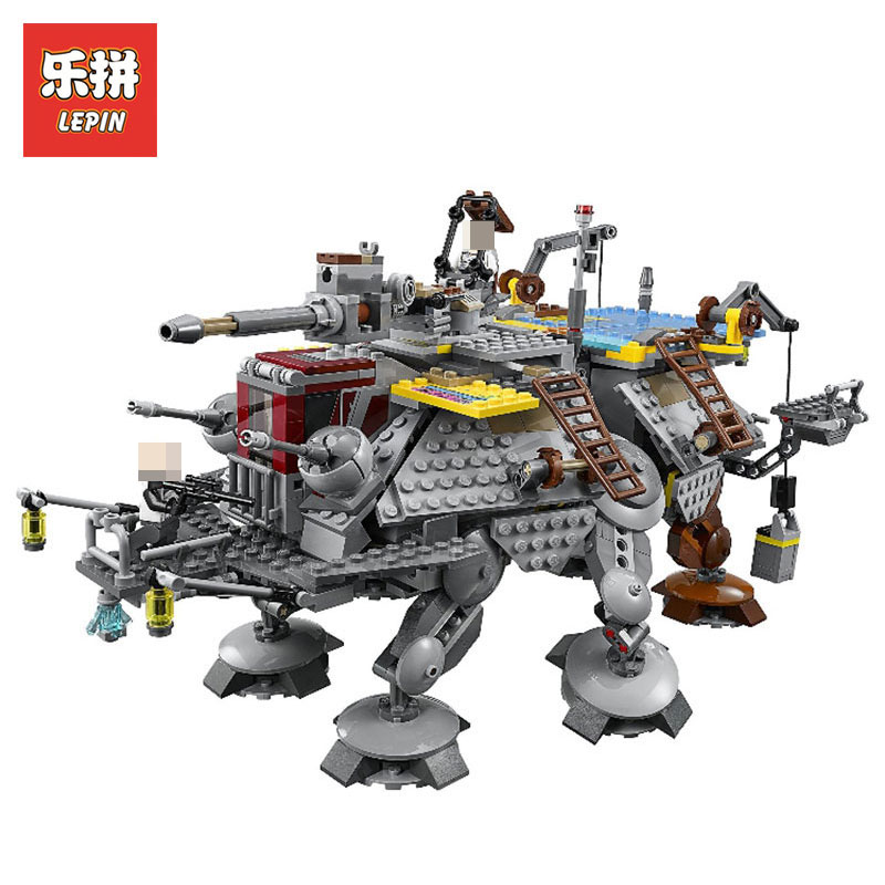 Lepin Free shipping 05032 Star Wars 1022Pcs Gift the Captain Rex's AT-TE model Building Blocks set Classic toy LegoINGlys 75157 lepin 1022pcs star series wars captain rex s at te building blocks brick lepin 05032 boys toys gift compatible legoingly 75157