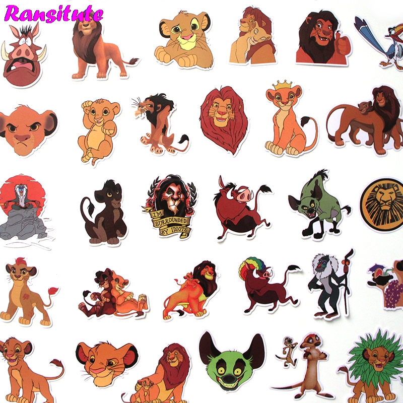 R309 40 Pcs/set Cartoon Animals PVC Waterproof Fun Sticker Toy Luggage Sticker Motorcycle And Luggage Notebook Sticker