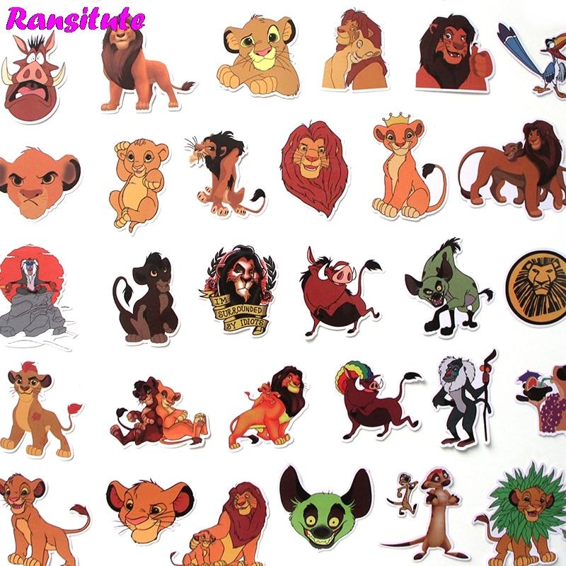R309 40 Pcs/set Cartoon Animals PVC Waterproof Fun Sticker Toy Luggage Sticker Motorcycle And Luggage Notebook Sticker