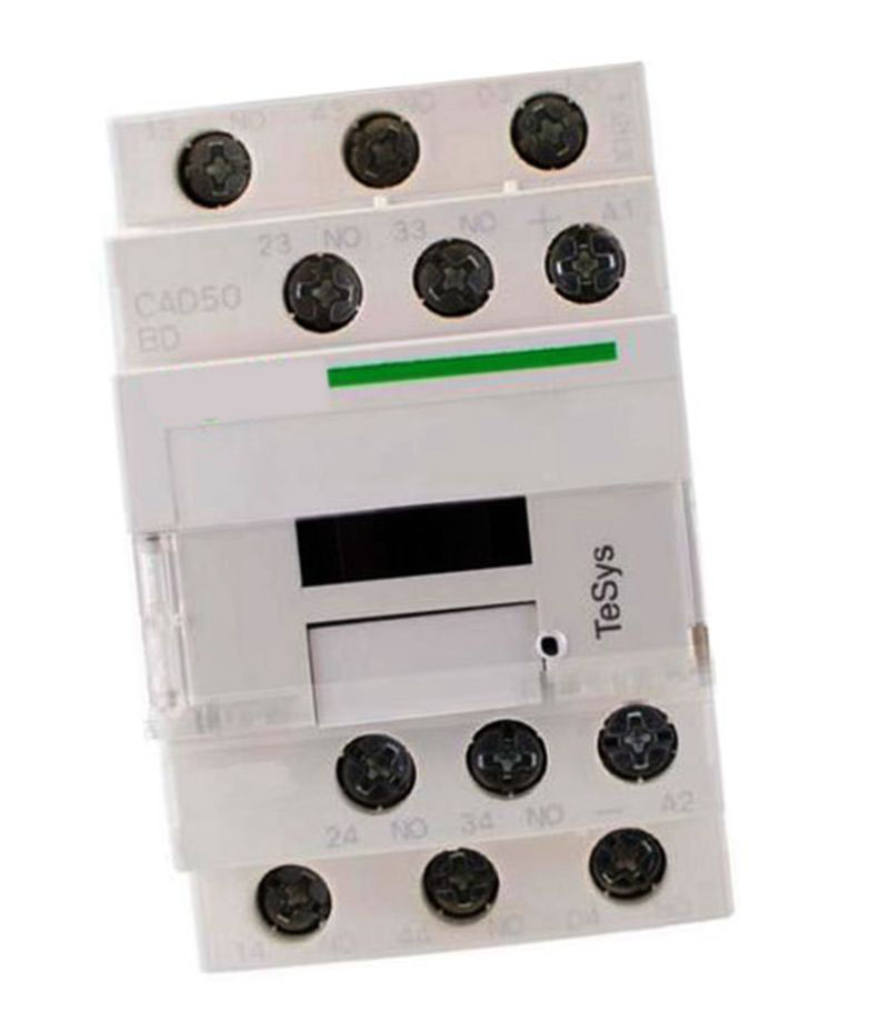 New CAD50BDC DC24V TeSys D series Contactor Control Relay 5NO+0NC lc1d series contactor lc1d09 lc1d09kd 100v lc1d09ld 200v lc1d09md 220v lc1d09nd 60v lc1d09pd 155v lc1d09qd 174v lc1d09zd 20v dc