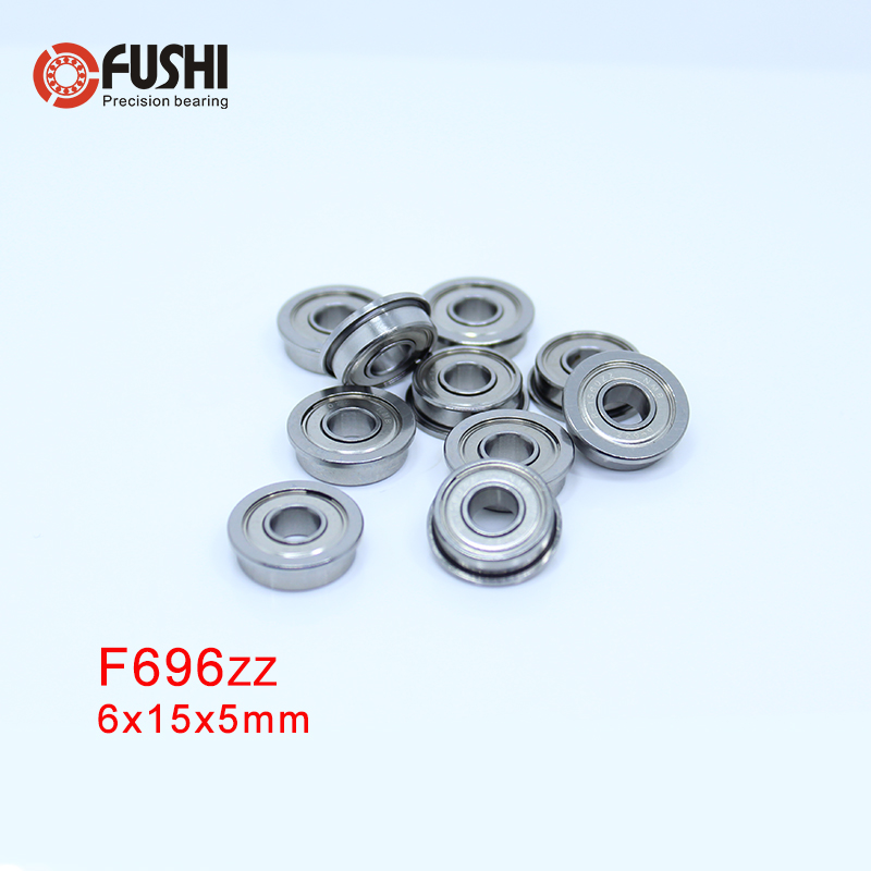 F696ZZ-roulement à bride 6x15x5mm | (10 pièces), palier à bride F696 Z ZZ, roulements à billes F619/6ZZ